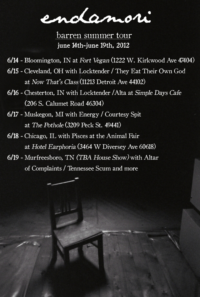 endamori summer tour 2012 poster3