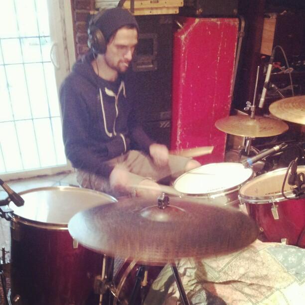 sean tracking drums
